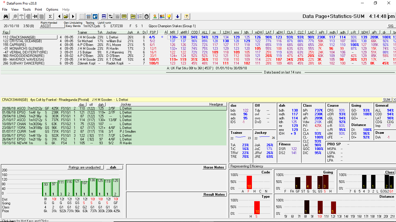 DataForm PRO | Horse Racing Database with Statistical Race
